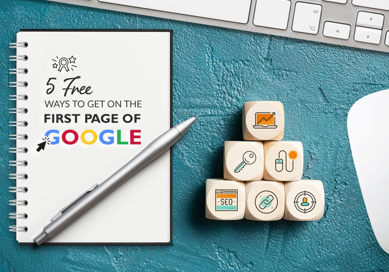 how to be on the google first page - Right Eye Marketing