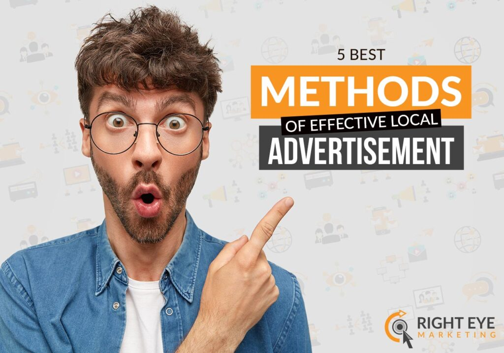 local advertisement with Right Eye Marketing