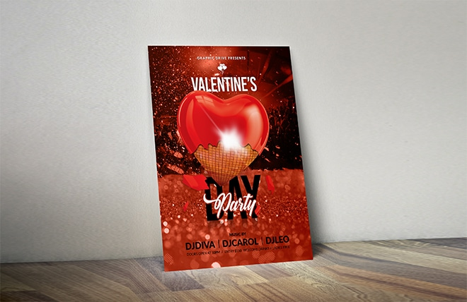 Valentine's Day Flyer Made By Right Eye Marketing