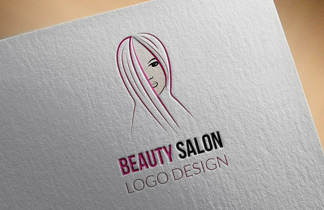 Beauty Salon Logo Made by Right Eye Marketing
