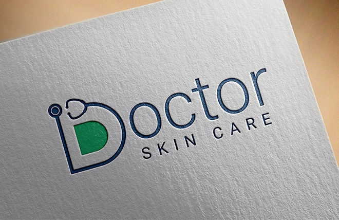 Doctor Skin Care Logo Made by Right Eye Marketing