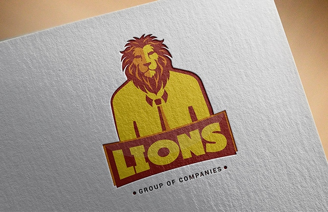Lions Logo Made by Right Eye Marketing
