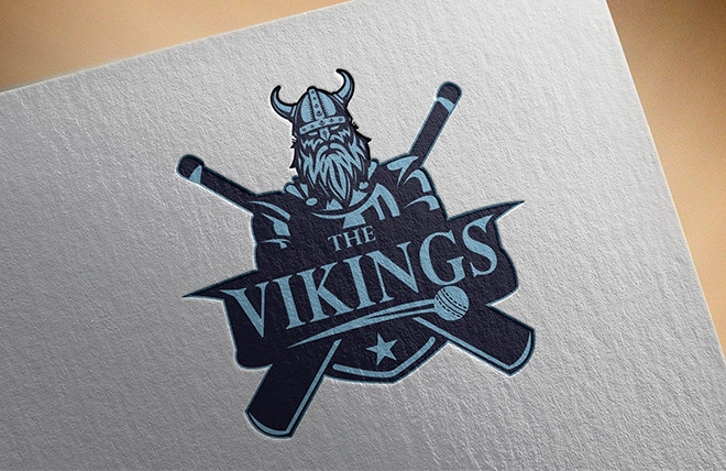 The Vikings Logo Made by Right Eye Marketing