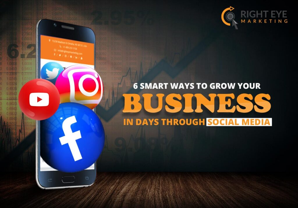 6 Smart Ways to Grow Your Business in Days Through Social Media