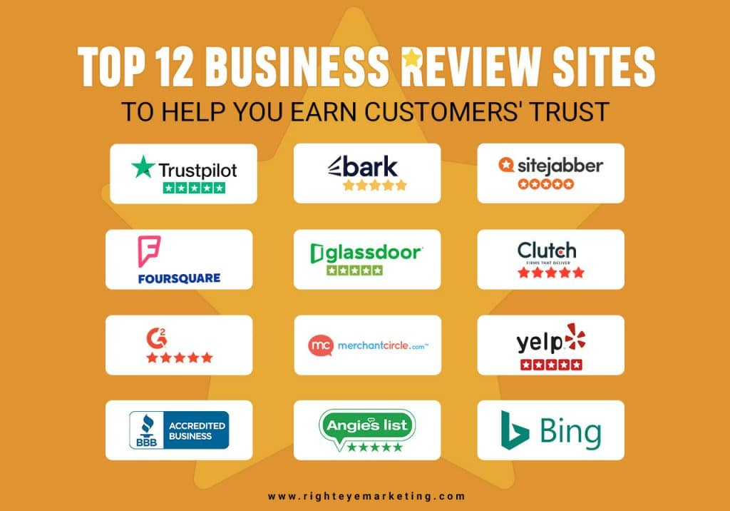 Top 10 Business Review Sites to Help You Earn Customers' Trust